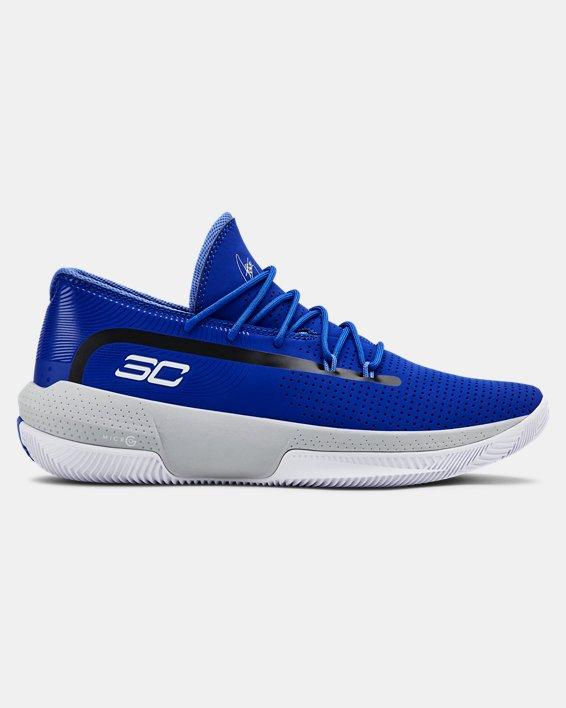 Men's UA SC 3ZER0 III Basketball Shoes, Blue, pdpMainDesktop image number 0