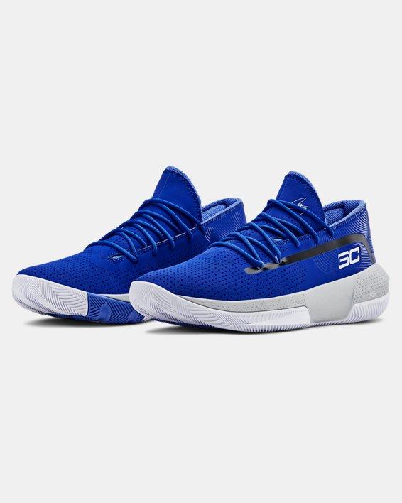 Men's UA SC 3ZER0 III Basketball Shoes, Blue, pdpMainDesktop image number 4