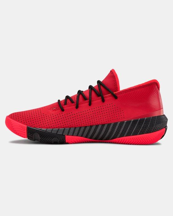 Men's UA SC 3ZER0 III Basketball Shoes, Red, pdpMainDesktop image number 1