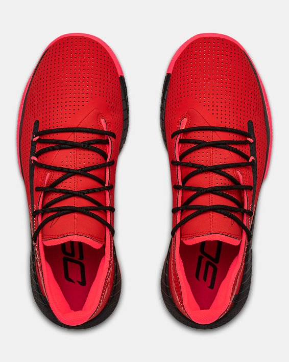 Men's UA SC 3ZER0 III Basketball Shoes, Red, pdpMainDesktop image number 3