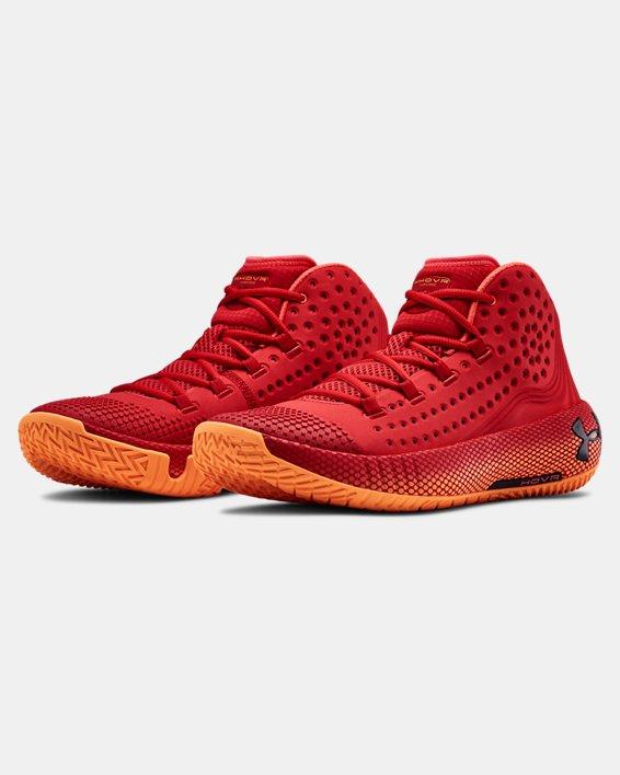 Men's UA HOVR™ Havoc 2 Basketball Shoes, Red, pdpMainDesktop image number 3