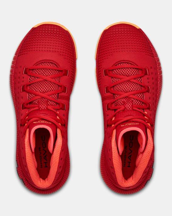 Men's UA HOVR™ Havoc 2 Basketball Shoes, Red, pdpMainDesktop image number 2