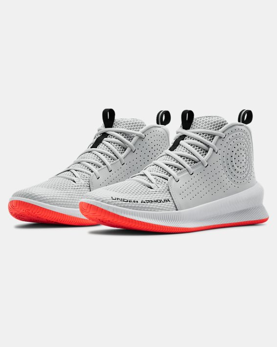 Men's UA Jet Basketball Shoes, Gray, pdpMainDesktop image number 4