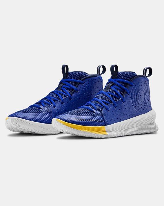 Men's UA Jet Basketball Shoes, Blue, pdpMainDesktop image number 3
