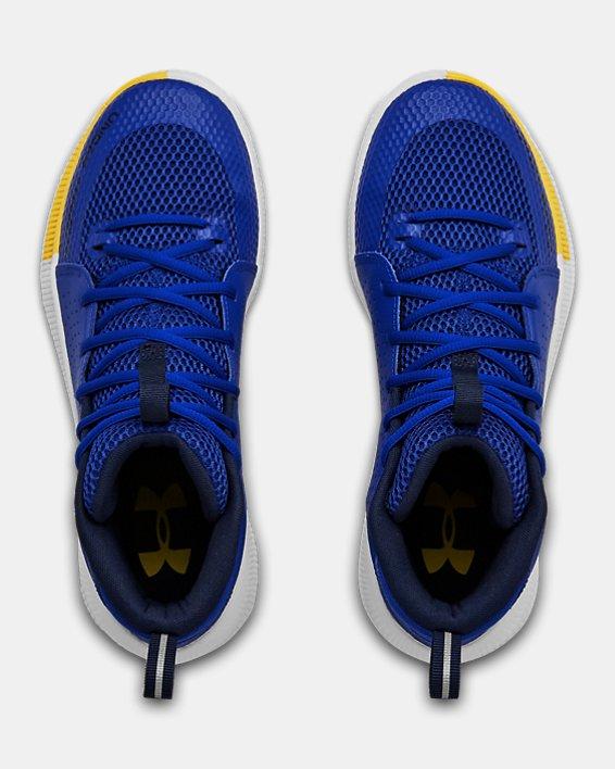 Men's UA Jet Basketball Shoes, Blue, pdpMainDesktop image number 2