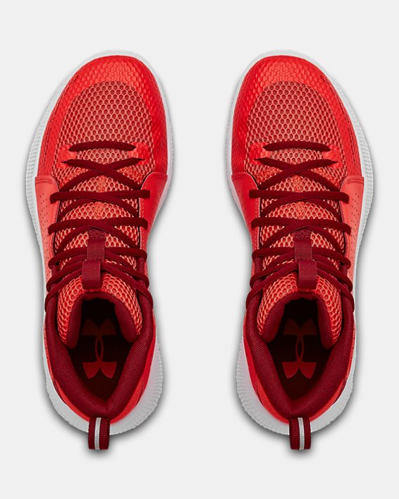 Men's UA Jet Basketball Shoes, Red, pdpMainDesktop image number 3