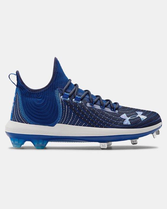 Men's UA Harper 4 Low ST Baseball Cleats, Blue, pdpMainDesktop image number 0