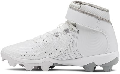 NEW Youth Under Armour Harper RM Jr Baseball Cleats White//Silver-Pick Size