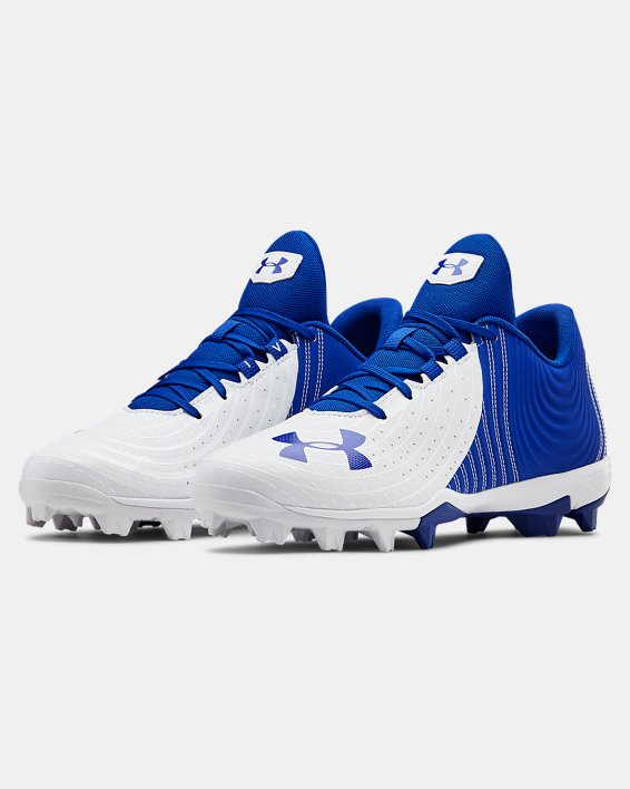 Men's UA Harper 4 Low RM. Baseball Cleats, Blue, pdpMainDesktop image number 4