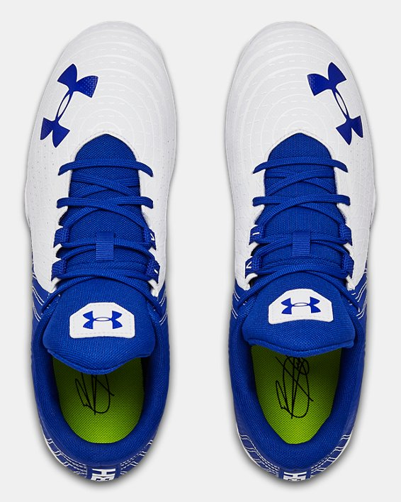 Men's UA Harper 4 Low RM. Baseball Cleats, Blue, pdpMainDesktop image number 3