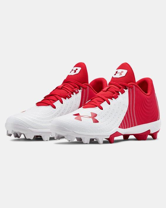 Men's UA Harper 4 Low RM. Baseball Cleats, Red, pdpMainDesktop image number 4