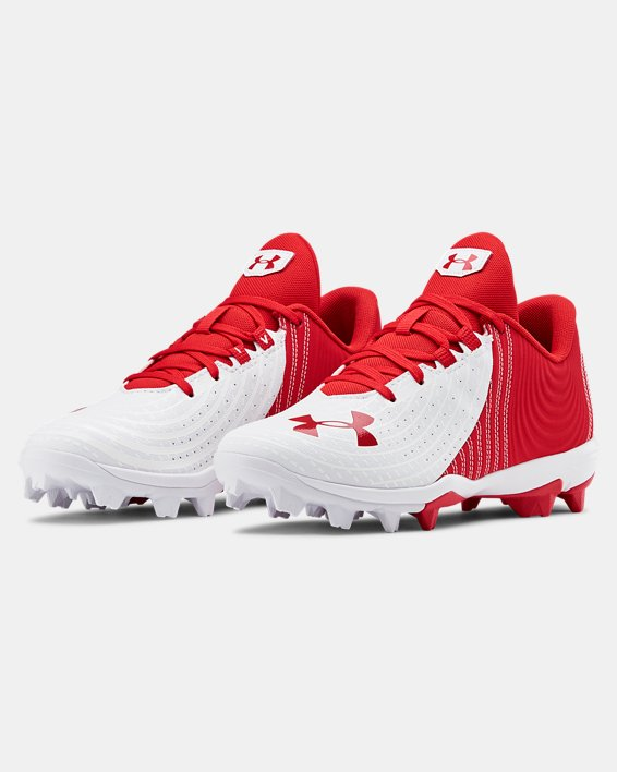 Boys' UA Harper 4 Low RM Jr. Baseball Cleats, Red, pdpMainDesktop image number 4