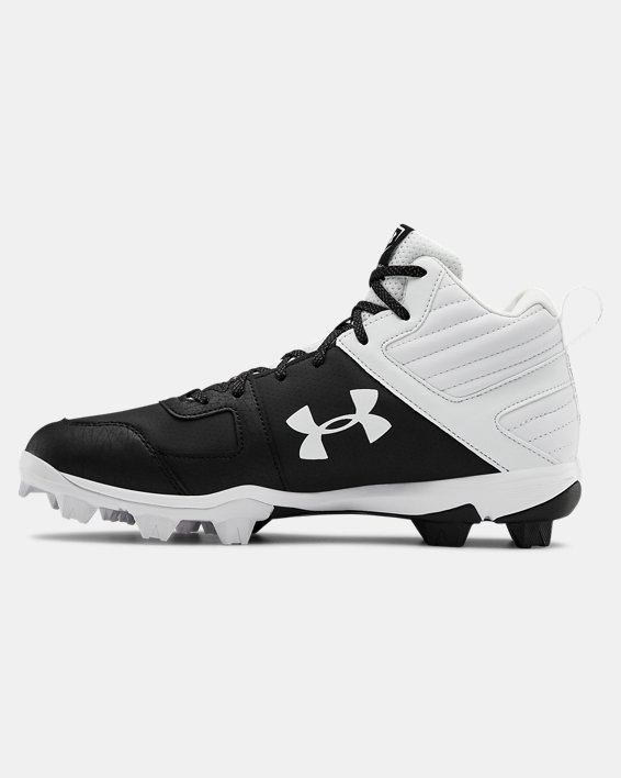 Men's UA Leadoff Mid RM Baseball Cleats, Black, pdpMainDesktop image number 1