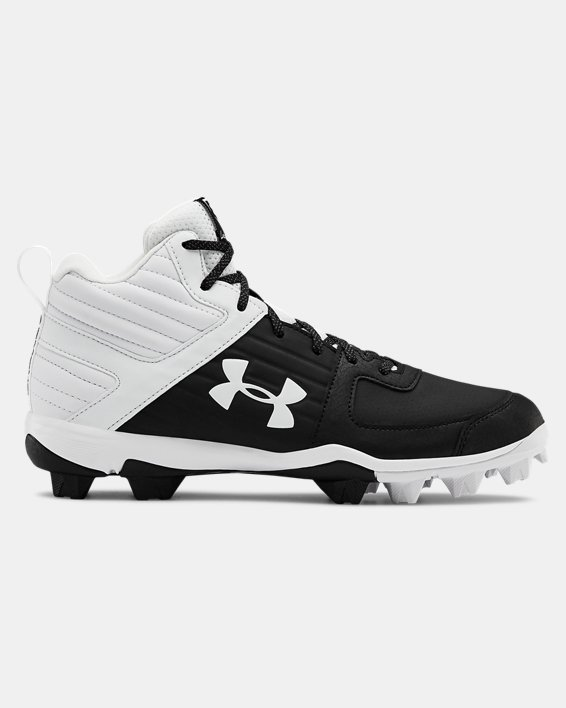 Men's UA Leadoff Mid RM Baseball Cleats, Black, pdpMainDesktop image number 0