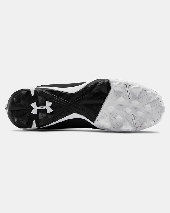 Men's UA Leadoff Mid RM Baseball Cleats, Black, pdpMainDesktop image number 2