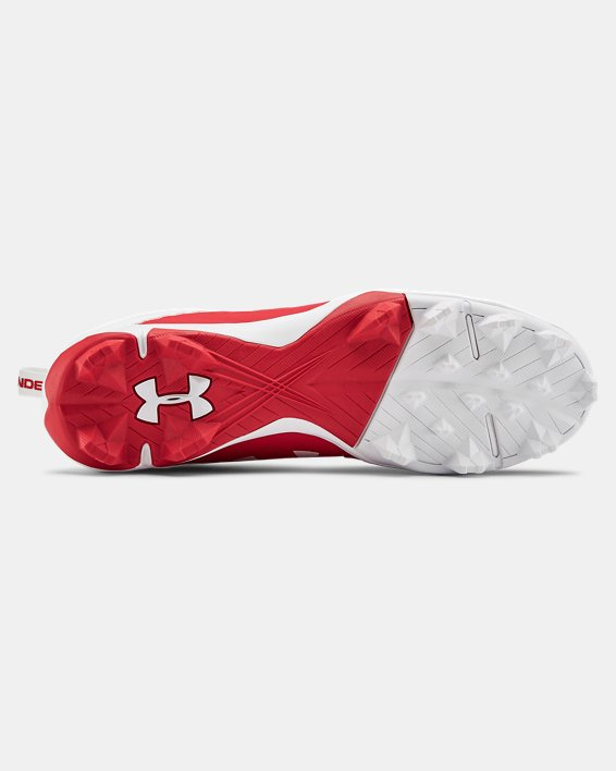 Men's UA Leadoff Mid RM Baseball Cleats, Red, pdpMainDesktop image number 2