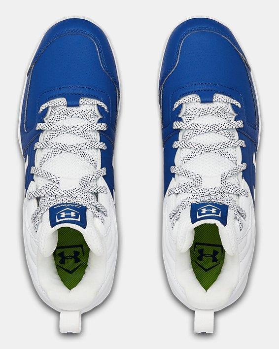 Boys' UA Leadoff Mid RM Jr. Baseball Cleats, Blue, pdpMainDesktop image number 3