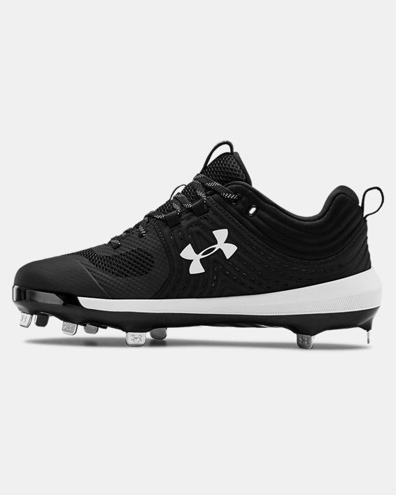 Women's UA Glyde ST Softball Cleats, Black, pdpMainDesktop image number 1