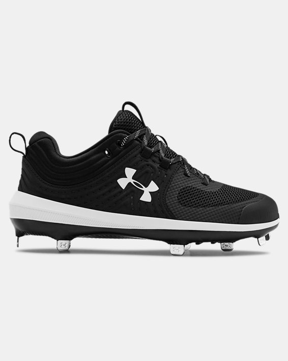Women's UA Glyde ST Softball Cleats, Black, pdpMainDesktop image number 0