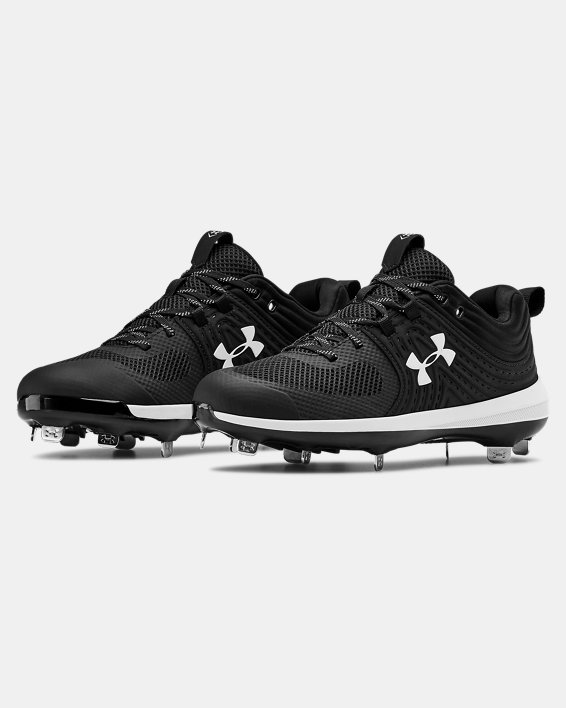 Women's UA Glyde ST Softball Cleats, Black, pdpMainDesktop image number 4