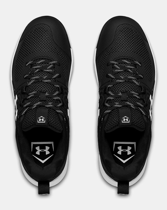 Women's UA Glyde ST Softball Cleats, Black, pdpMainDesktop image number 3