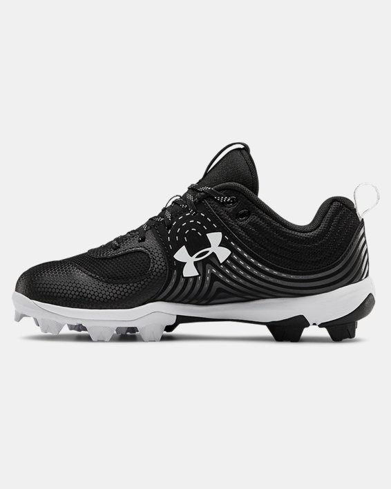 Women's UA Glyde RM Softball Cleats, Black, pdpMainDesktop image number 1