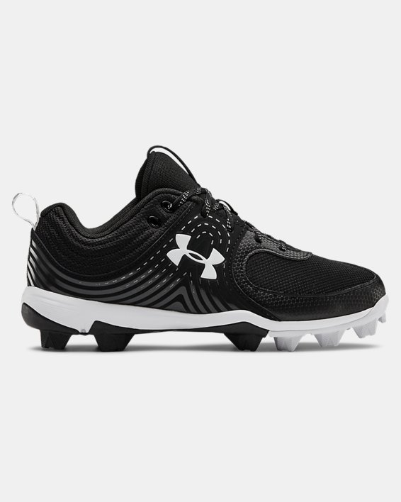 Women's UA Glyde RM Softball Cleats, Black, pdpMainDesktop image number 0