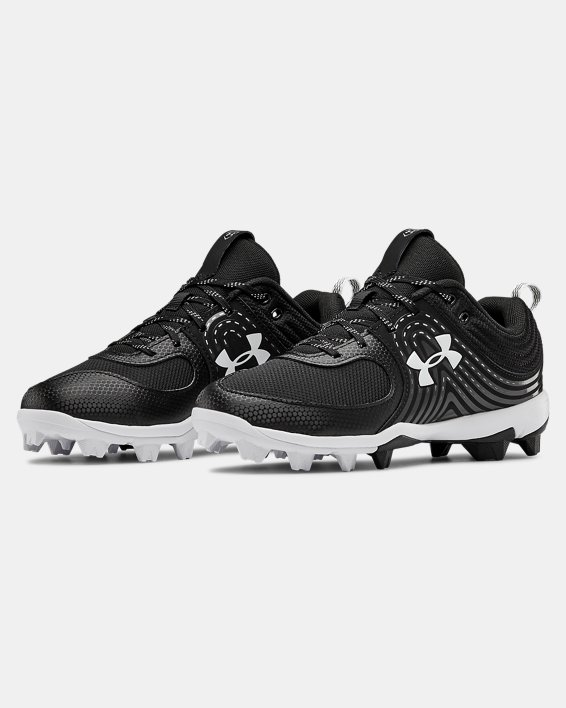 Women's UA Glyde RM Softball Cleats, Black, pdpMainDesktop image number 4