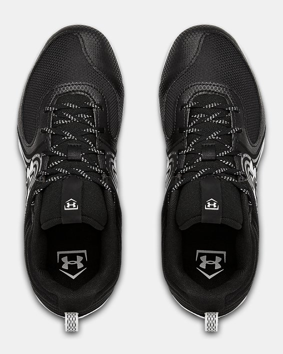 Women's UA Glyde RM Softball Cleats, Black, pdpMainDesktop image number 3