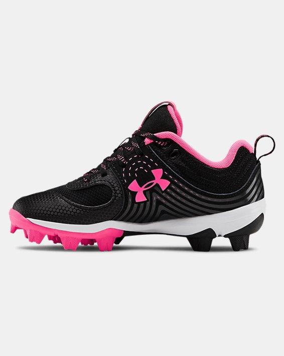 Girls' UA Glyde RM Jr. Softball Cleats, Black, pdpMainDesktop image number 1