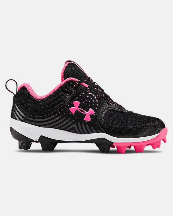 Girls' UA Glyde RM Jr. Softball Cleats, Black, pdpMainDesktop image number 0