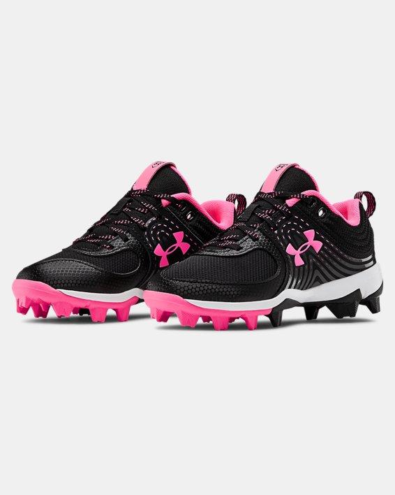 Girls' UA Glyde RM Jr. Softball Cleats, Black, pdpMainDesktop image number 4