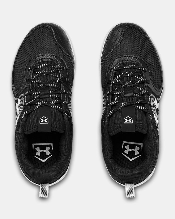 Girls' UA Glyde RM Jr. Softball Cleats, Black, pdpMainDesktop image number 3