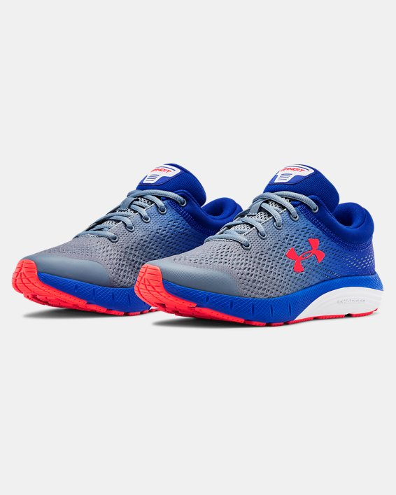 Grade School UA Bandit 5 Running Shoes, Gray, pdpMainDesktop image number 4