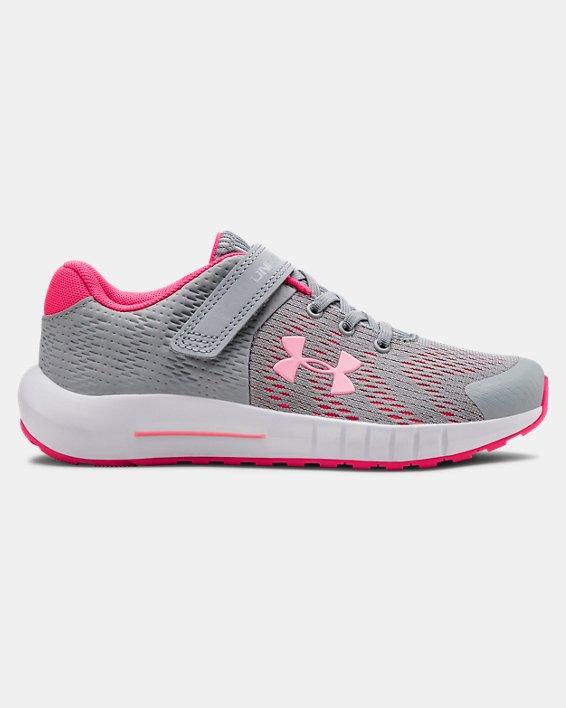 Pre-School UA Pursuit BP AC Running Shoes, Gray, pdpMainDesktop image number 0