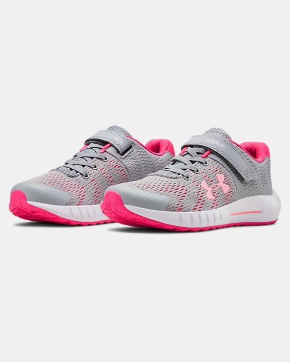 Pre-School UA Pursuit BP AC Running Shoes, Gray, pdpMainDesktop image number 4