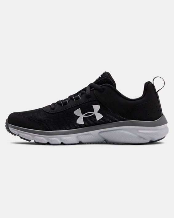 Grade School UA Assert 8 Running Shoes, Black, pdpMainDesktop image number 1