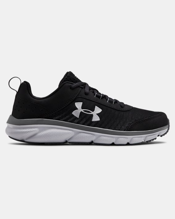 Grade School UA Assert 8 Running Shoes, Black, pdpMainDesktop image number 0