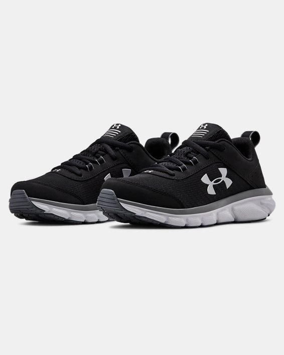 Grade School UA Assert 8 Running Shoes, Black, pdpMainDesktop image number 3