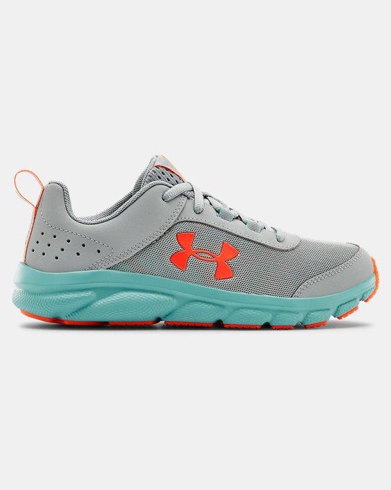 Grade School UA Assert 8 Running Shoes, Blue, pdpMainDesktop image number 0