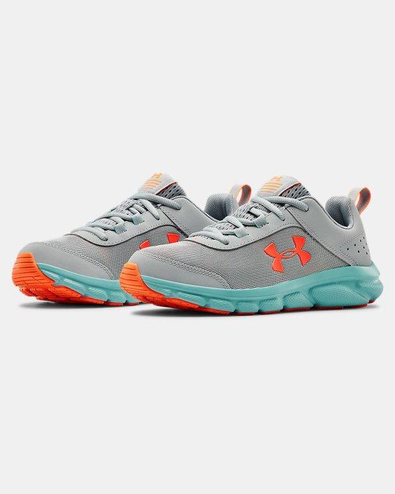 Grade School UA Assert 8 Running Shoes, Blue, pdpMainDesktop image number 3