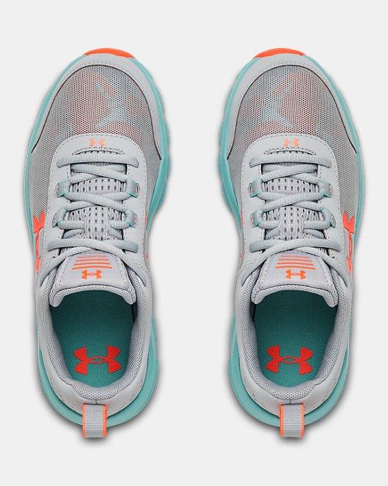 Grade School UA Assert 8 Running Shoes, Blue, pdpMainDesktop image number 2