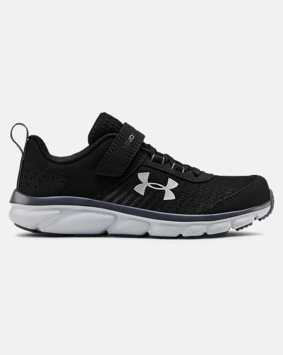 Pre-School UA Assert 8 AC Running Shoes Running Shoes, Black, pdpMainDesktop image number 0