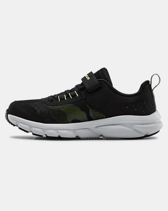 Pre-School UA Assert 8 AC Running Shoes Running Shoes, Black, pdpMainDesktop image number 1