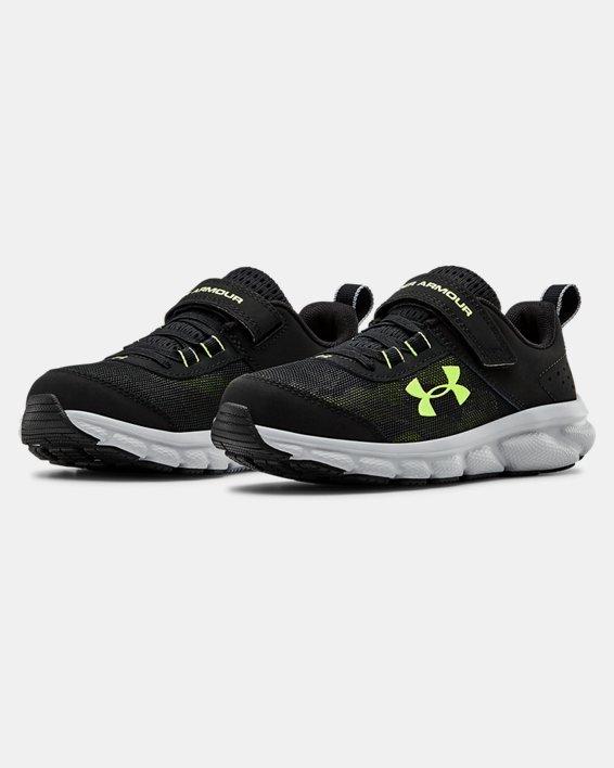Pre-School UA Assert 8 AC Running Shoes Running Shoes, Black, pdpMainDesktop image number 3