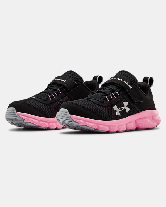 Pre-School UA Assert 8 AC Running Shoes Running Shoes, Black, pdpMainDesktop image number 3