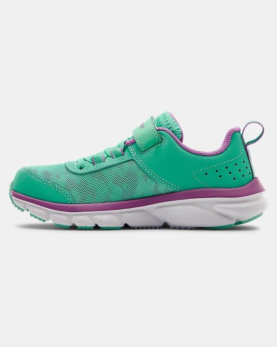Pre-School UA Assert 8 AC Running Shoes Running Shoes, Green, pdpMainDesktop image number 1
