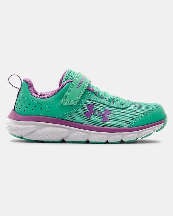Pre-School UA Assert 8 AC Running Shoes Running Shoes, Green, pdpMainDesktop image number 0