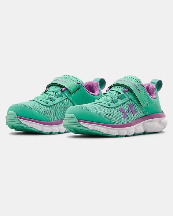 Pre-School UA Assert 8 AC Running Shoes Running Shoes, Green, pdpMainDesktop image number 3