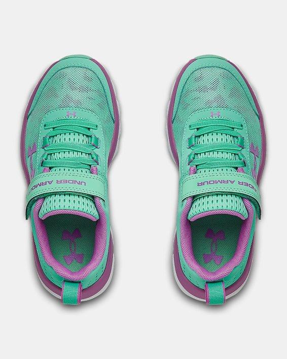 Pre-School UA Assert 8 AC Running Shoes Running Shoes, Green, pdpMainDesktop image number 2